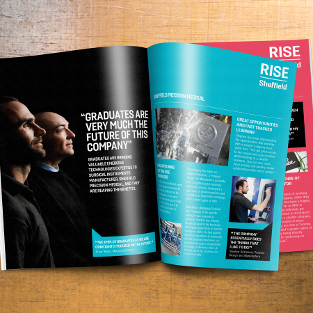 Print brochure for RISE Sheffield